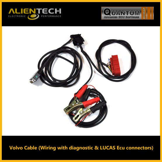 Volvo Cable (Wiring with diagnostic & LUCAS Ecu connectors ...